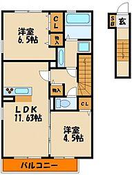 (仮称)西区伊川谷町潤和D−room[2階]の間取り