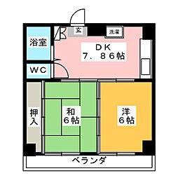 メゾン寿[2階]の間取り