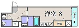大阪府大阪市此花区西九条4丁目の賃貸マンションの間取り