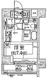 クラリッサ川崎グランデ[9階]の間取り