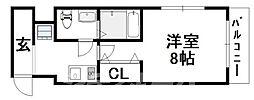 Osaka Metro御堂筋線 天王寺駅 徒歩15分の賃貸マンション 4階1Kの間取り
