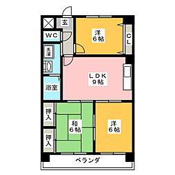 グリーンステージ小幡ヶ原[2階]の間取り