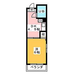 菱田ビル[3階]の間取り