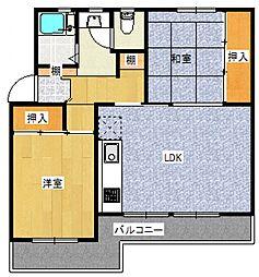六ッ川団地2街区7号館[5階]の間取り