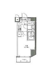 東京メトロ副都心線 雑司が谷駅 徒歩7分の賃貸マンション 6階1Kの間取り