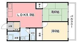 第2ワシオマンション[303号室]の間取り