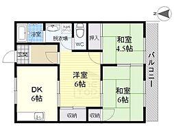 レジデンス妙興寺[2階]の間取り