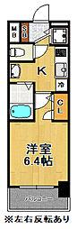 プレミアムコート大正フロント[8階]の間取り