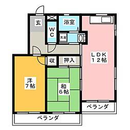 パークハイムHIRO[4階]の間取り