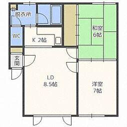 PAO Y・T BLD[2階]の間取り