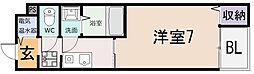 シェモワ八尾[1階]の間取り