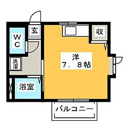 コーポ・エイト[2階]の間取り