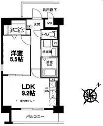福岡県久留米市小頭町の賃貸マンションの間取り