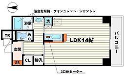 サンノーブルYAMAMOTO 7階ワンルームの間取り