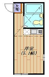 クイーンズモコII[105号室号室]の間取り