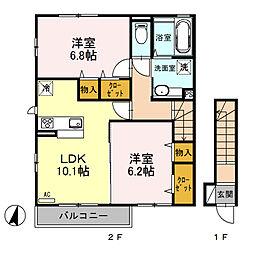 (仮)D‐room桜区南元宿2丁目 I[201号室]の間取り