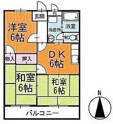 サンシティKATOU 1階[102号室]の間取り