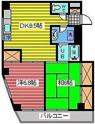 大黒屋レヂデンスII[7階]の間取り