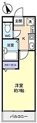 エステート二和(石田商事ビル)[3階]の間取り