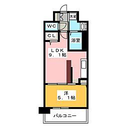 プリメール貝塚[3階]の間取り
