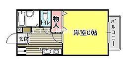 ロンサール奥田[2階]の間取り
