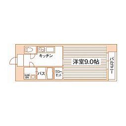 熊本県熊本市中央区大江3丁目の賃貸マンションの間取り