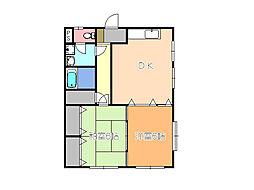 Kレジデンス1[3階]の間取り