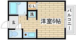 兵庫県神戸市長田区大谷町3丁目の賃貸アパートの間取り