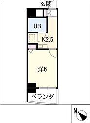ライオンズマンション新栄 601号室[6階]の間取り