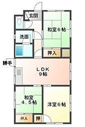 [一戸建] 福岡県飯塚市北古賀 の賃貸【/】の間取り
