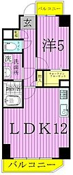 While 椿[6階]の間取り