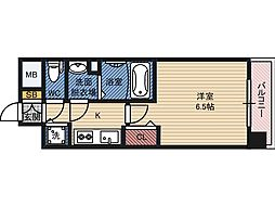 ファステート蒲生公園アペルザ 6階1Kの間取り