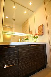 洗面台はスクエアボウル(カウンターボウル一体型)の為、お手入れも簡単。大変丁寧に使用されております。