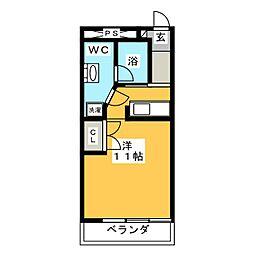 アルジェント庵[2階]の間取り