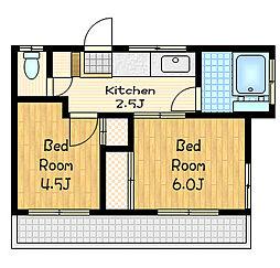 第二永楽荘[2階]の間取り