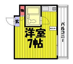 埼玉県草加市清門1丁目の賃貸マンションの間取り