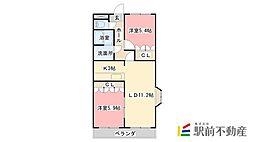 コンフォール東与賀II[206号室]の間取り