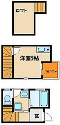 兵庫県明石市鷹匠町の賃貸アパートの間取り