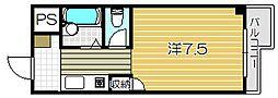 トレンディア松原[209号室]の間取り