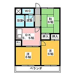 マンション青山[1階]の間取り