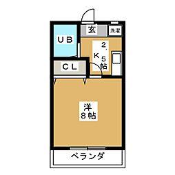 ユースハイム臼井[2階]の間取り