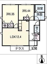 シルク柊 A棟[1階]の間取り