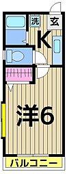 バンブーハイツ3[202号室]の間取り