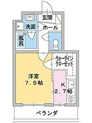 ヒスイコーポ[3階]の間取り