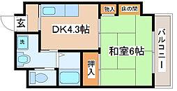 兵庫県神戸市長田区庄山町1丁目の賃貸マンションの間取り