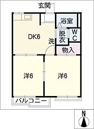 アルファープラスA棟[2階]の間取り
