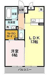 マグノリア湘南台[2階]の間取り