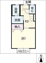 プリシェール平田A棟[1階]の間取り