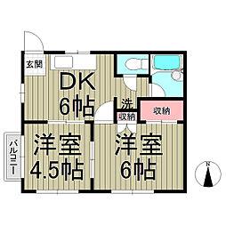 ハイホーム大船[2階]の間取り