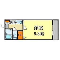 熊本県熊本市西区花園3丁目の賃貸マンションの間取り